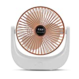 strimusimak Ventilador de escritorio para el hogar oficina portátil USB recargable mini ventiladores eléctricos