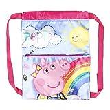 Cerdá, Saquito Guardería de Peppa Pig-Licencia Oficial Nickelodeon Studios Unisex niños, Multicolor, 270X330MM