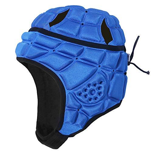 Lixada Rugby Helm Kinde Herren Kopfschutz mit Luftlöchern Eva Antikollisionshelm Unterstützung Fußball Rugby Kopfschutz Hut