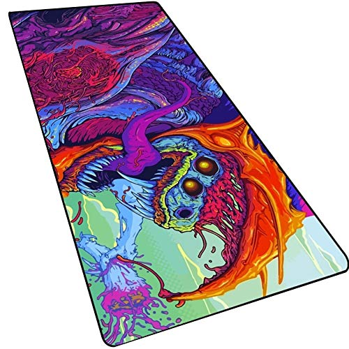 Desk Accessories Mouse Pad - Large Gaming Mouse Pad Player Solid Color Locking Keyboard Mouse Pad Gaming Table Mouse Pad Painted Mouse Pad Dining Table Mat Non-slip Base Waterproof