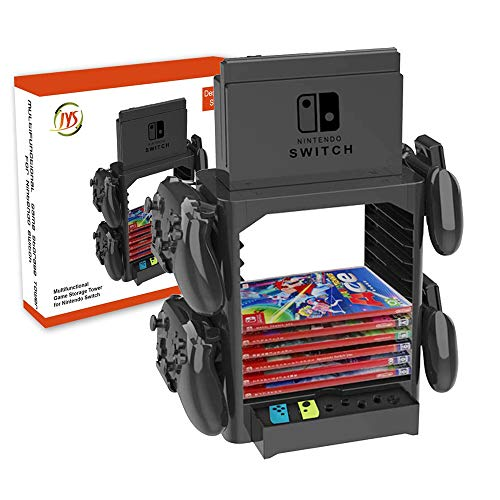 Bracket Mount for Nintendo Switch, YTTL Stackable Game Disk Rack Controller Organizer and Multi-Function Storage Bracket Tower Holder Stand for Nintendo Switch and Accessories