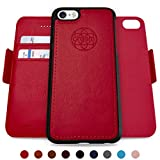 iphone 5 5s one direction case - Dreem Fibonacci 2-in-1 Wallet-Case for iPhone 5/5s/SE1, Magnetic Detachable Shock-Proof TPU Slim-Case, RFID Protection, 2-Way Stand, Luxury Vegan Leather, GiftBox - Red
