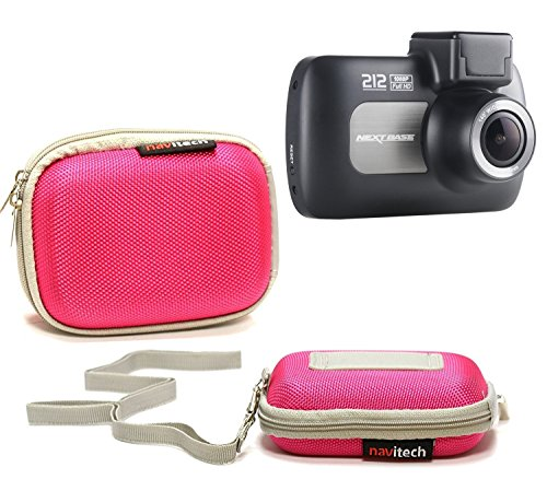 Navitech Pink Water Resistant Dash Cam Case Cover Compatible with The EKEN H9s 4K Action Camera