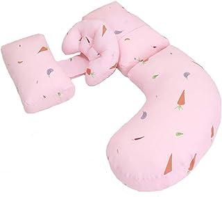 抱き枕-XHZ 柔软舒适的枕头,多功能U型孕妇枕,侧卧侧睡的神器。150x50cm,3色 (Color : Pink)