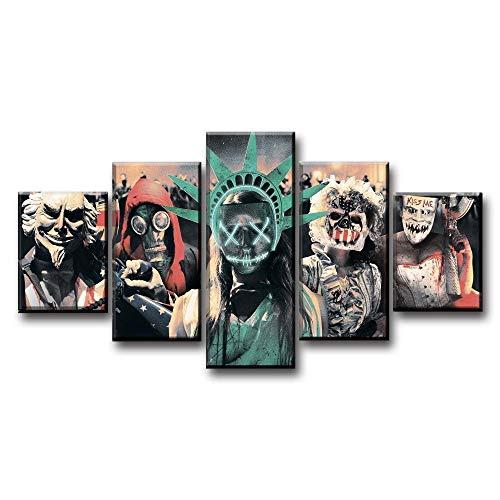 ADGUH LeinwanddruckeThe Purge Election YearMovie HD-Druck Gemälde 5 Stück Startseite Die Wandkunst Gemälde auf Leinwand Wandkunst Wohnzimmer RoomDecor5 Drucke auf Leinwand