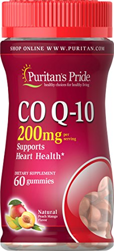 Puritan's Pride Co Q-10 200mg Peach Mango Gummies