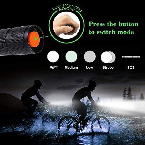 Lumitact G700 LED Taschenlampe, Extrem Hell 3000 Lumen CREE Wiederaufladbare Taktische Taschenlampen, Aufladbar Fackel für Camping Wandern und Notfälle (Inklusive 1 x 18650 Batteries) - 5