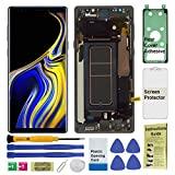 Display Touch Screen (AMOLED) Digitizer Assembly with Frame for Samsung Galaxy Note 9 All Models (Unlocked) (for Phone Repair Replacement) (Black)