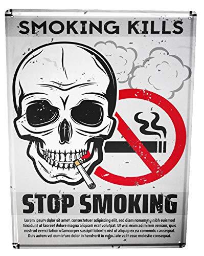 LEotiE SINCE 2004 Blechschild Tabak Nostalgie Rauchen verboten