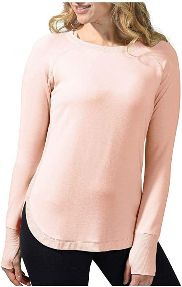 Active Life Womens Size Small L/S Pullover Modal Top, Ballerina Pink
