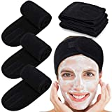 Whaline 4 Pieces Spa Bandeau Cheveux Headband Make Up Head Terry Tissu...