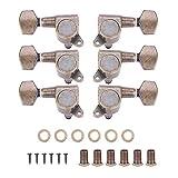 Dilwe 6pcs Tuning Pegs Verrouillage Tuners têtes de Machines avec vis Accessoire pour Guitare électrique Acoustique(3L3R)
