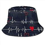 Sombrero de Cubo Reversible golpeado en el corazón, Viajes al Aire Libre, Pesca, Caza, Sombrero para el Sol