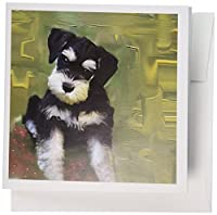 Dogs Schnauzer–Miniature Schnauzer–グリーティングカード Set of 6 Greeting Cards