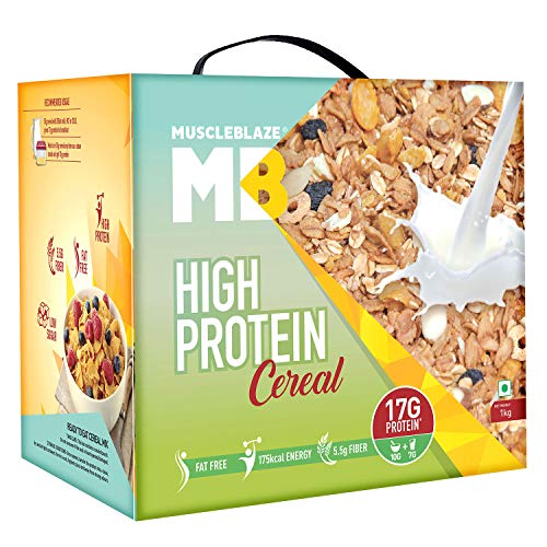 MuscleBlaze High Protein Cereal 1 kg Unflavored