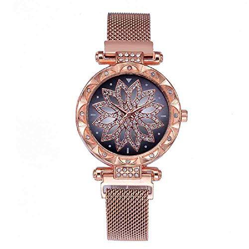 OLUYNG Reloj de Pulsera Fashion Watch Women Luxury Brand Rose Gold F
