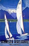 Schweizer Segelschule Thunersee ビンテージポスター スイス 16x24 ジクレーギャラリープリント 壁の装飾トラベルポスター