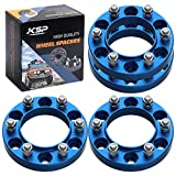 KSP 6X5.5 Blue Hubcentric Wheel Spacers 1 Inch M12x1.5...