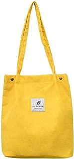 Corduroy Tote Shopping Casual Shoulder Bag Cotton Cloth Handbag Foldable Beach Shopper Bag