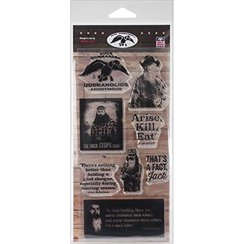 KellyCraft Innovations DC-51007 Duck Commander Duck Commander Polymer Stamps, 4 by 8-Inch, Clear, Set of 2