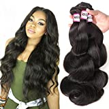 Bestsojoy 10A Brazilian Body Wave 3 Bundles 100 Human Hair Bundles Virgin Brazilian Hair Body Wave Natural Color (16 18 20)
