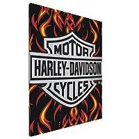 Harley-Davidson ハーレーダビッドソン アートパネル アートフレーム 壁飾り 絵画 壁掛け ポスター インテリア キャンバス絵画 木枠付きの完成品 新築飾り 贈り物 40x50cm