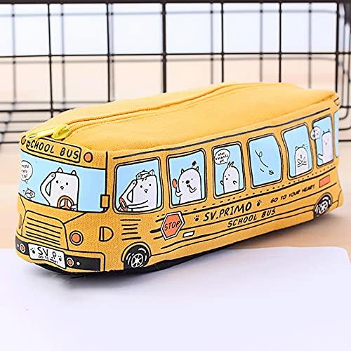 HXYLSZZC Caja creativa de gran capacidad, autobús de animales pequeños, multifuncional, de lona, para estudiantes, niñas, niños, regalos para niños, (color: 3)
