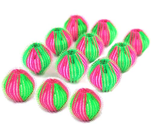 Pet Hair Remover for Laundry - Non-Toxic Reusable Dryer Balls Washer and Dryer Ball Remove Long Hair from Dogs and Cats on Clothes in The Washing Machine 12 Packs