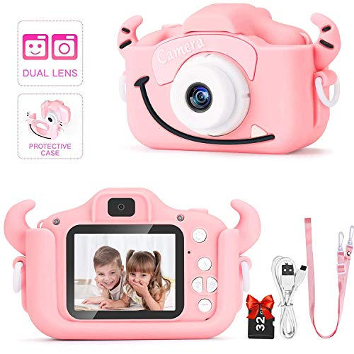 Salandens cámara digital para niños, adecuada para niñas pequeñas, cámara de juguete, cámara de video para niños, cámara para...