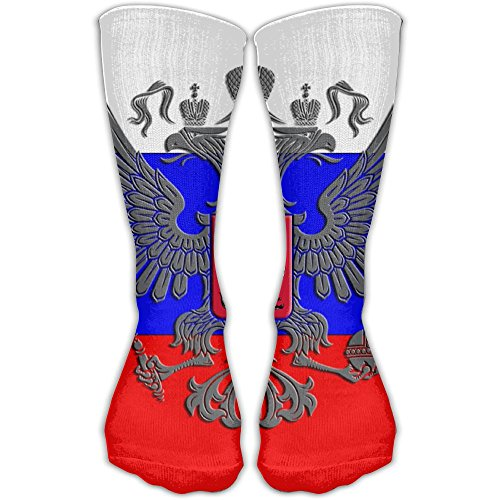 Women Men Classics Socks Russian Flag Russian Coat Of Arms (1) Athletic Stockings 30cm Long Sock One Size