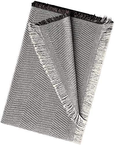 EURASIA - Colcha Multiusos para Sofá Estampado Espiga - Plaid Multiusos para Cama - Foulard Ideal para Sofás y Camas (Marron, 180 x 260 cm)