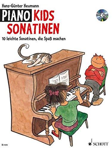 Piano Kids Sonatinen: 10 leichte Sonatinen, die Spaß machen. Klavier. Ausgabe mit CD.