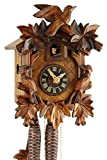 Eble 20-06-12-10 - Orologio a cucù originale della Foresta nera, in vero legno, meccanismo meccanico, 1 giorno, certificato VDs, 3 cm