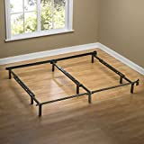 Zinus Michelle Compack Adjustable Steel Bed Frame, for Box Spring and Mattress Set, Fits Full to King