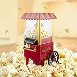 MorNon Popcornmaschine Popcornmaker Popcorngerät Nostalgie Popcorn Maschine Heißluft Popcorn Popper