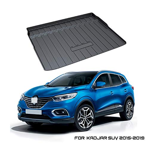YEE PIN Kofferraummatte für Renault Kadjar SUV 2015-2019, Seitenschutz TPO Material Laderaumschale Schutzmatte für Sicheren Transport von Gepäck, Rutschfester