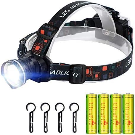 UltraFire LED Headlamp with 4PCS 1 5V AA Alkaline battery Kit Super Bright Outdoors Headlight product image
