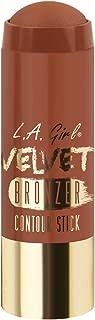 L.A. Girl Velvet Contour Sticks, Bronzer Suede, 0.2 Ounce (Pack of 3)