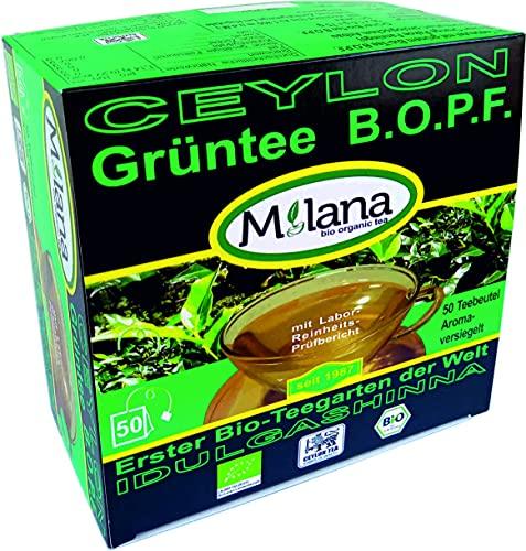 50 Milana CEYLON Premium BIO-GRÜNTEE Beutel BOPF - Teebeutel, grüner Tee, 55 Prozent des Verkaufspreises ist SOZIALE HILFSLEISTUNG - Der Tee, ... der nach Liebe schmeckt...