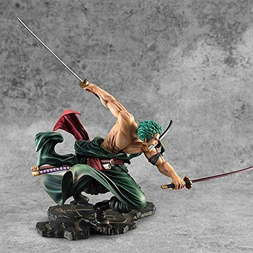 N/W Anime One Piece Roronoa Zoro Figurine Three Blades SA-Maximum Ver. Collection de figurines en PVC Modèle 18 cm Figurine