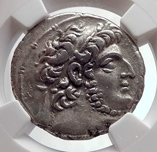 1000 GR DEMETRIOS III Eukairos Seleukid Ancient AR Greek Tetradrachm XF NGC