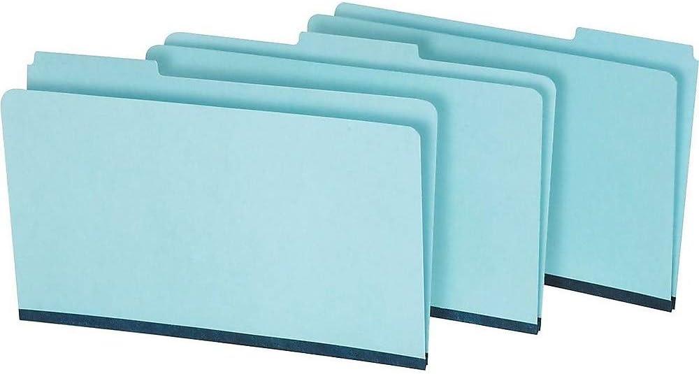 55% OFF Staples 621318 3-Tab Pressboard File Max 90% OFF 25 Box Folders Blue Legal