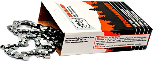 """WoodlandPRO 12"""" Carbide Chainsaw Chain Loop (63CB-45 Drive Links) WPL 63CB45"""