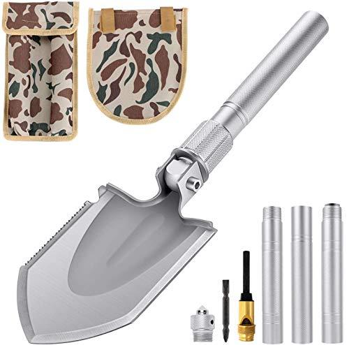 Klappspaten Multifunktional-Klappschaufel rostfreier Stahl, Länge: 43-75 cm Abnehmbar Schaufel für Überleben/Garten/Camping