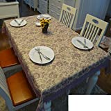 QQT European-style Gartentisch Tischdecke,Tuch Bedecken Das Wohnzimmer Couchtisch Tuch,Längliche Tischdecke-D 150*200cm(59x79inch)