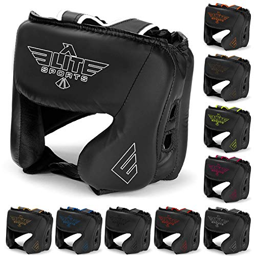 Elite Sports Boxing MMA Sparring Kickboxing Headgear for Men, Muay Thai Boxing Head Guard Helmet for Head Protection(Golden)