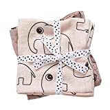 Done by deer 30691 - Pack 2 muselinas elefante, color rosa