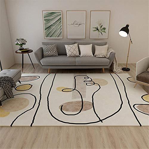 Kunsen alfombras Juveniles alfombras pie de Cama Beige Rectangular Alfombra Sala de Estar Decoración Antideslizante alfombras salón 60X90CM 1ft 11.6' X2ft 11.4'