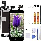 Brinonac Pantalla para iPhone 6s Plus, 5.5' Pantalla Táctil LCD con botón de Inicio,Cámara Frontal, Sensor de proximidad, Altavoz, ensamblaje de Marco digitalizador y Kit de reparación (Negro)