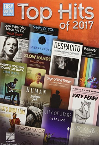 Top Hits of 2017 (Easy Guitar With Notes & Tab)